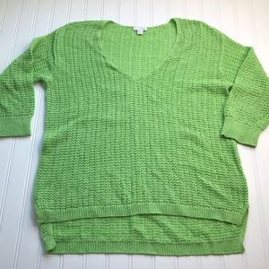 J. Jill Sweater Stretch Pullover size Medium Green